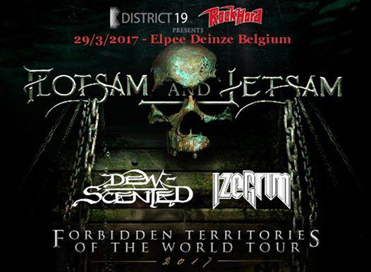 Flotsam and Jetsam + Dew-Scented + Izegrim – Muziekclub Elpee Deinze – 29/03/2017