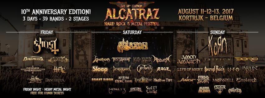 Alcatraz Metal Festival 11/08/2017 tem 13/08/2017: tiende opendeurdagen!