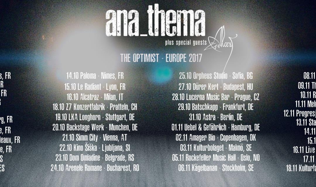 Alcest & Anathema @ Aéronef – Rijsel – Frankrijk
