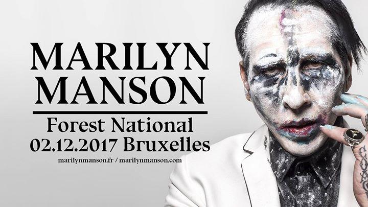 Povere vertoning van Marilyn Manson @ Vorst Nationaal