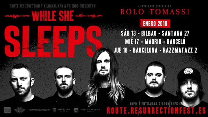 Rolo Tomassi & While She Sleeps @ Santana 27 – Bilbao – Spanje