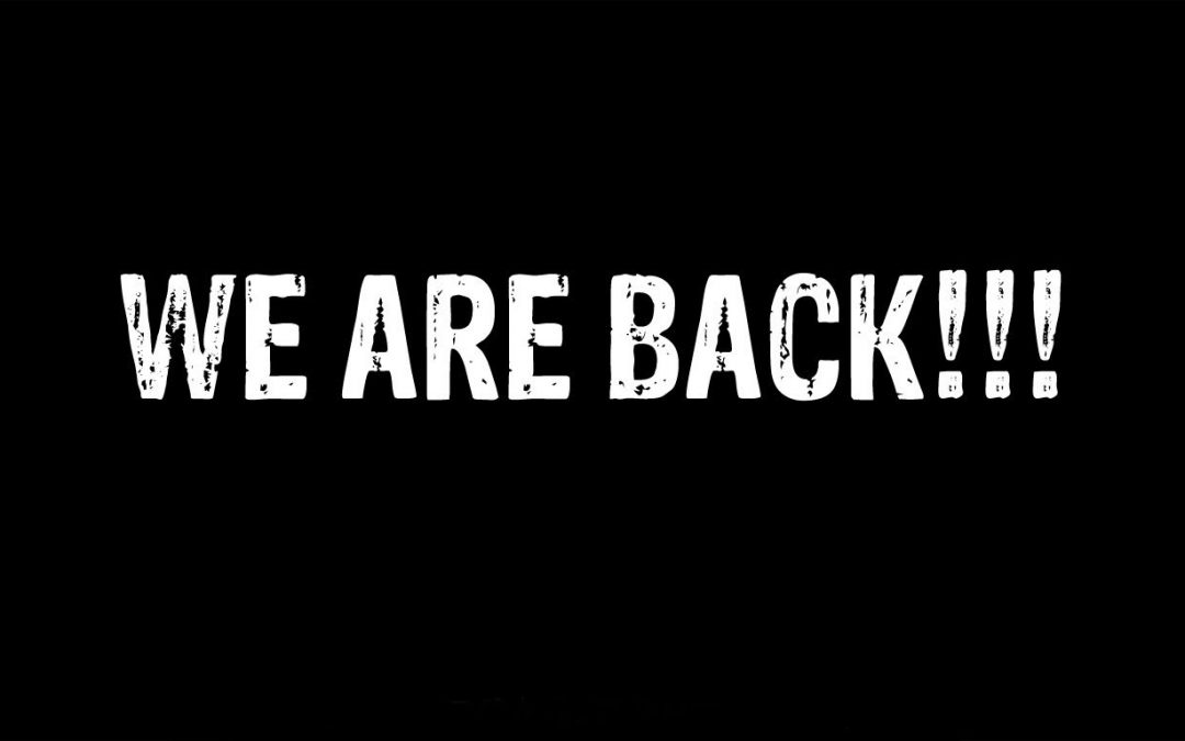 We zijn terug!