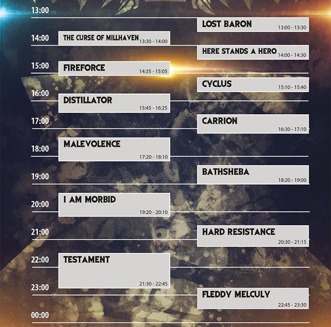 Antwerp Metal Fest 2018, zondag 1 juli: Het Verslag