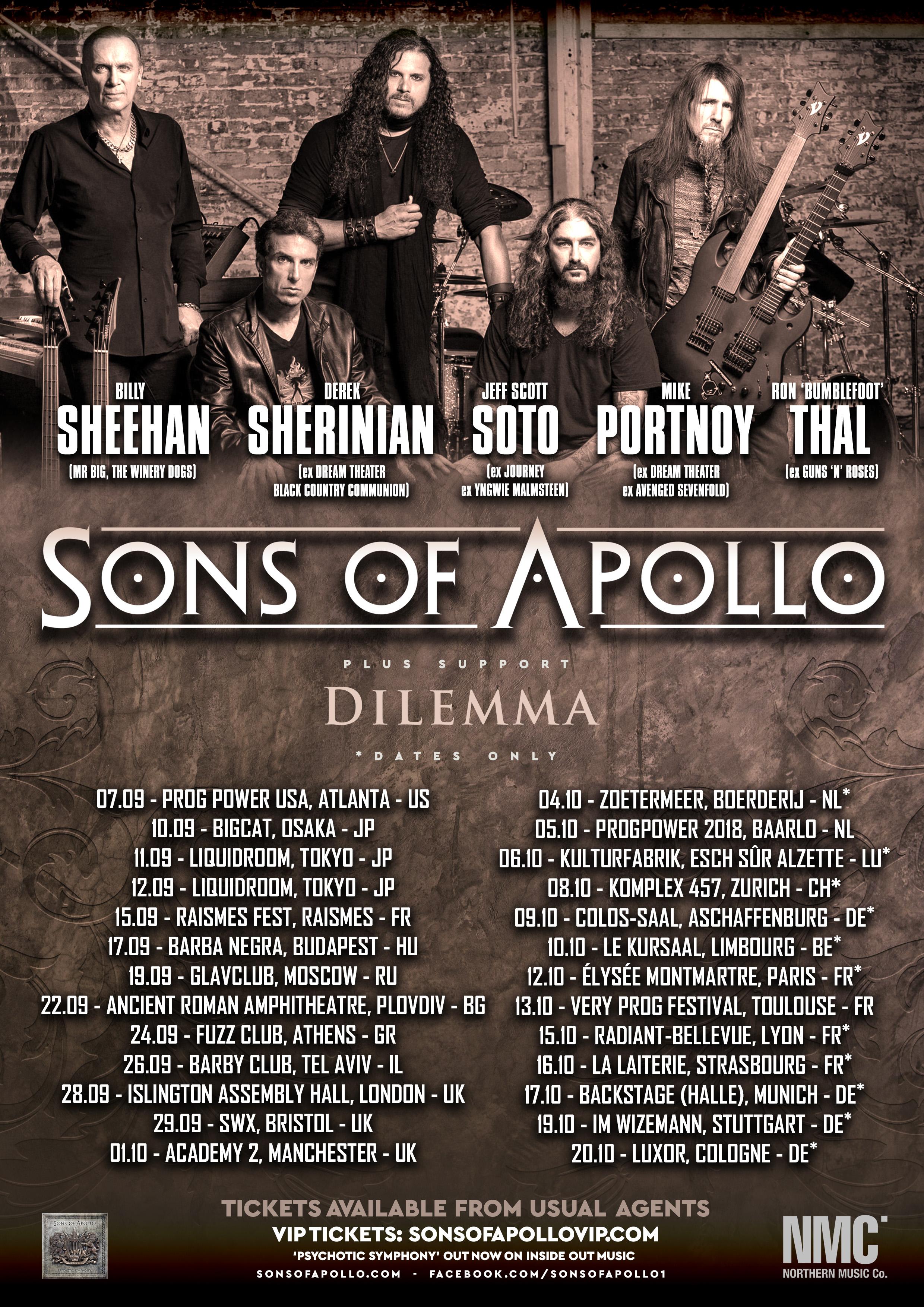 Sons Of Apollo @ Le Kursaal – Limbourg – 10/10/2018