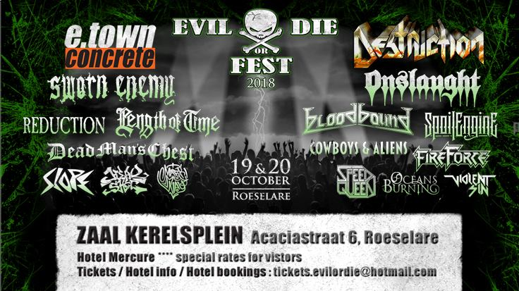 Evil or Die Fest – Roeselare – zaterdag 20 oktober 2018