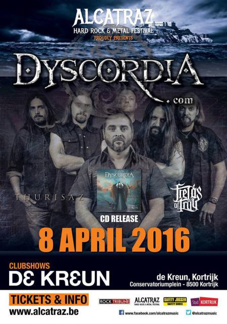 Dyscordia + Thurisaz + Fields of Troy / De Kreun Kortrijk / 08-04-2016