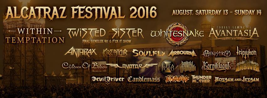 Alcatraz Metal Fest, 13 en 14 augustus, De Lange Munte – Kortrijk