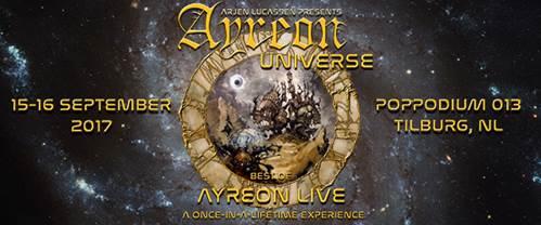 Ayreon Live in 013 te Tilburg op 15 en 16 september 2017