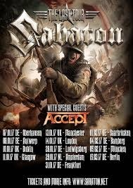 Sabaton + Accept + Twilight Force – Lotto Arena Antwerpen – 8 januari 2017