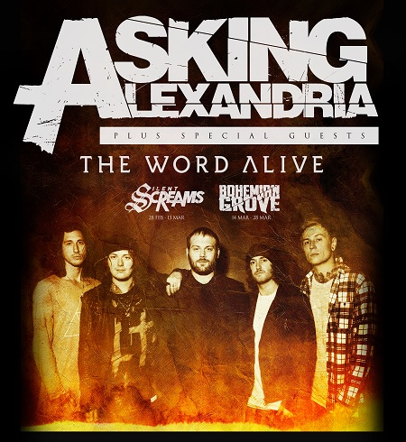 Asking Alexandria, The Word Alive & Silent Screams @ Trix – Antwerpen – BE