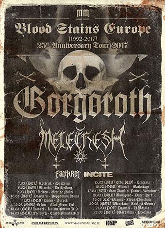 Gorgoroth, Melechesh, Incite, Earth Rot @ De Kreun, Kortrijk, 7 maart 2017