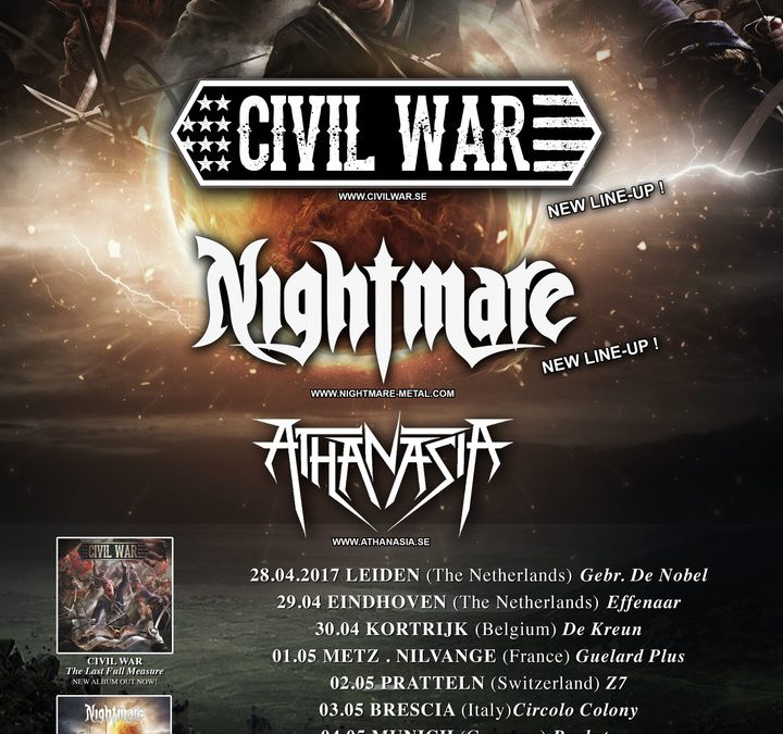 Civil War + Nightmare + Athanasia – De Kreun Kortrijk – 30 april