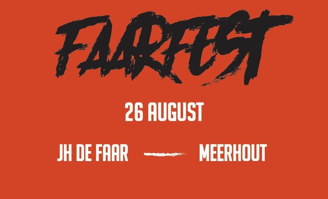 Faarfest 2017 – Jeugdhuis De Faar – Zaterdag 26 augustus 2017