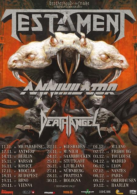Testament + Annihilator + Death Angel / Trix, Antwerpen/ 12-11-2017