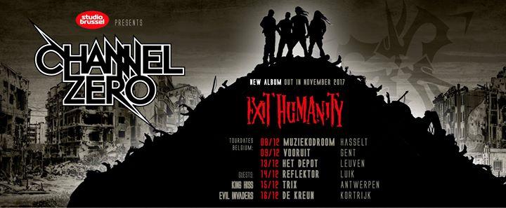 Channel Zero + Evil Invaders + King Hiss / Trix, Antwerpen / 15-12-2017