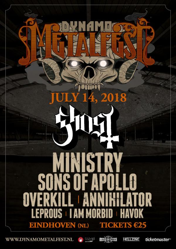 De affiche van Dynamo Metal Fest zoals deze er nu uit ziet.