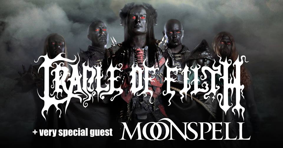 Moonspell & Cradle of Filth veroveren de Jupiler zaal van Poppodium 013