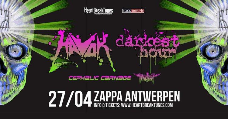 Havok + Darkest Hour + Cephalic Carnage + Harlott / @ Zappa, Antwerpen / 27-04-2018