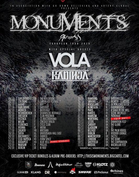 Monuments + Vola + Kadindja + Atlas + Pride Zero /De Verlichte Geest, Roeselare/ 28-10-2018