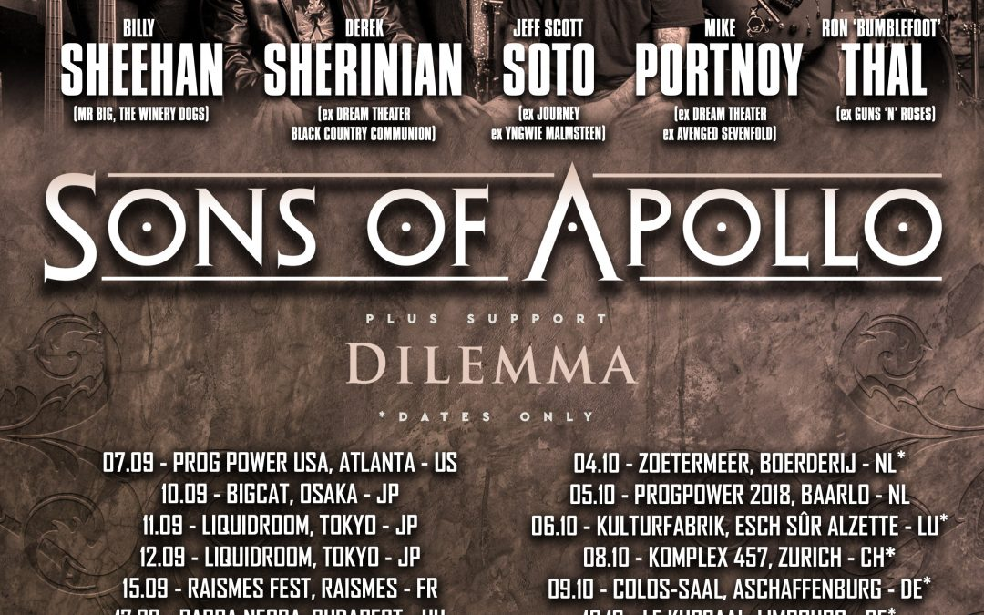 Sons Of Apollo @ Le Kursaal – Limbourg – 10/10/2018