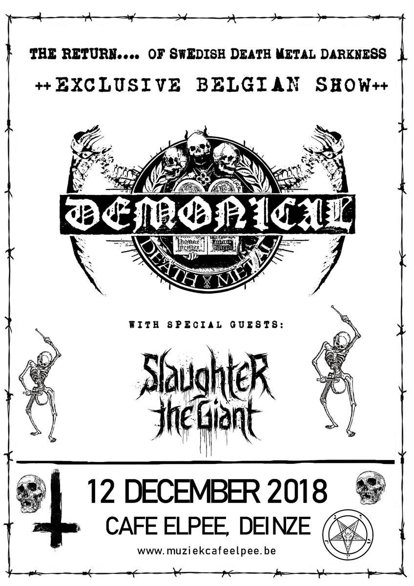Demonical + Slaughter The Giant / @ Den Elpee, Deinze / 12 december 2018