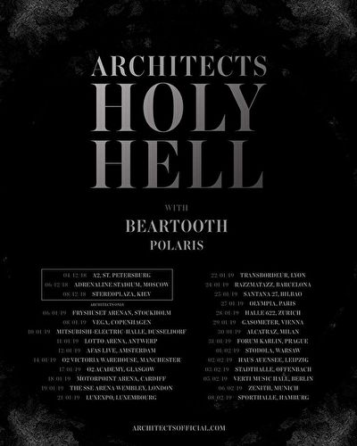 Architects + Beartooth + Polaris / @ Lotto Arena, Antwerpen / 11-01-19