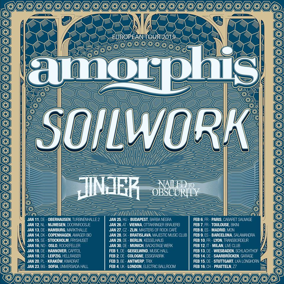 Amorphis + Soilwork + Jinjer + Nailed To Obscurity / Trix, Antwerpen