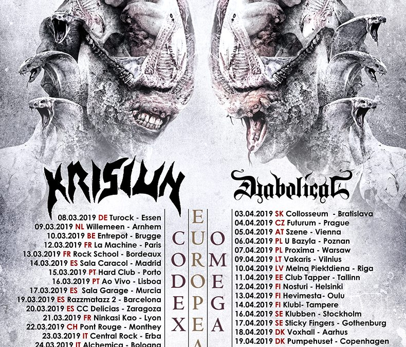 Septicflesh + Krisiun + Diabolical + Xaon / Het Entrepot, Brugge / 10-03-2019