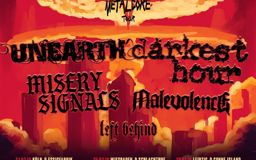 Darkest Hour + Unearth + Misery Signals + Malevolence + Left Behind / @ Het Entrepot, Brugge / 22-03-2019