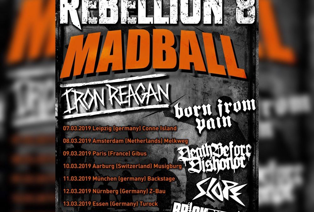 Madball + Iron Reagan + Born From Pain + Death Before Dishonor + Slope / Muziek-O-Droom, Hasselt / 9-3-2019