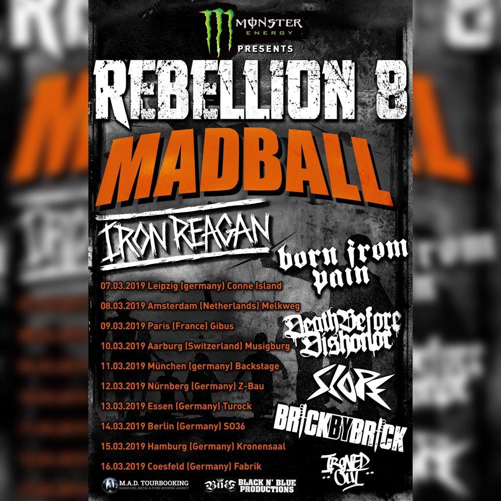 Madball + Iron Reagan + Born From Pain + Death Before Dishonor + Slope / Muziek-O-Droom, Hasselt / 9-3-2019