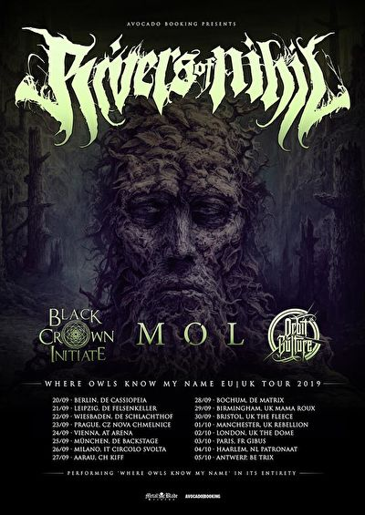 Rivers Of Nihil + Black Crown Initiate + MØL + Orbit Culture / @Trix, Antwerpen / 05-10-2019