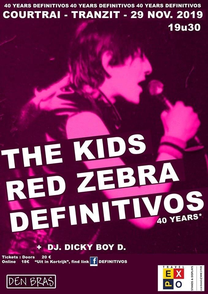 Punk feest met The Kids, Red Zebra en Definitivos @ JC Tranzit – Kortrijk