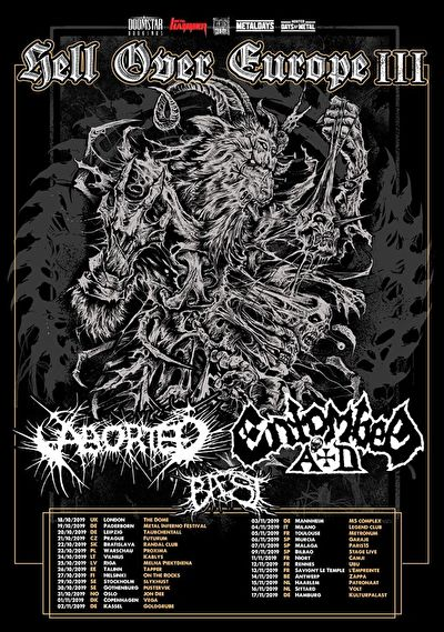 Entombed A.D. + Aborted + Baest / @ Zappa, Antwerp / 14-11-2019