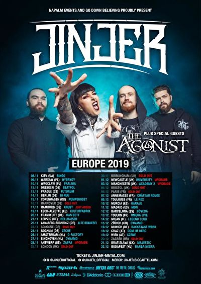 Jinjer + The Agonist + Khroma + Space Of Variations / @ Zappa, Antwerp / 28-11-2019