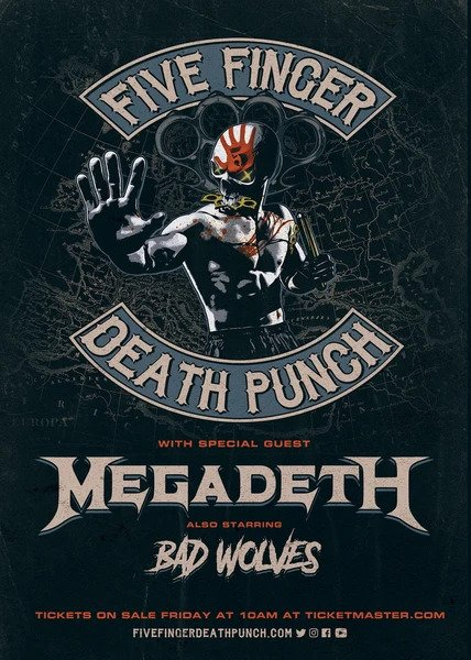 Five Finger Death Punch + Megadeth + Bad Wolves / Afas Live / 26-01-2020