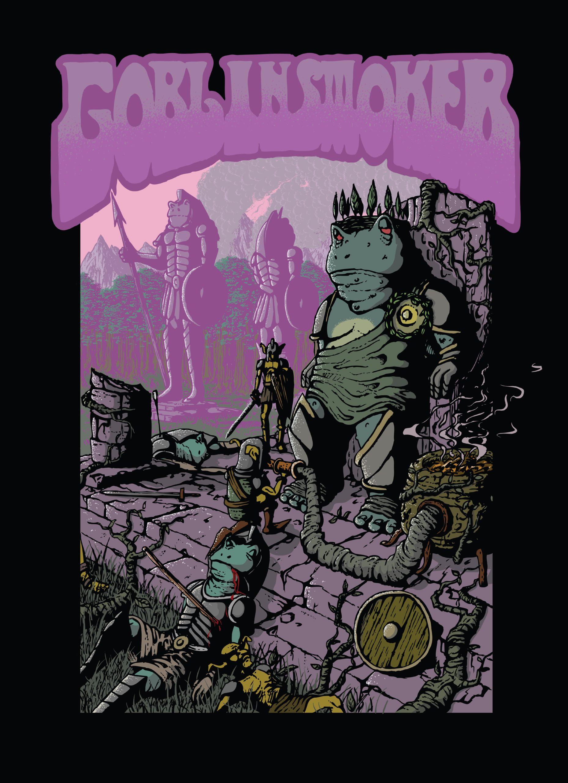 Goblinsmoker - A Throne in Haze, A World Ablaze albumcover