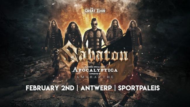 Sabaton, Apocalyptica, Amaranthe – Sportpaleis Antwerpen, 2 februari 2020