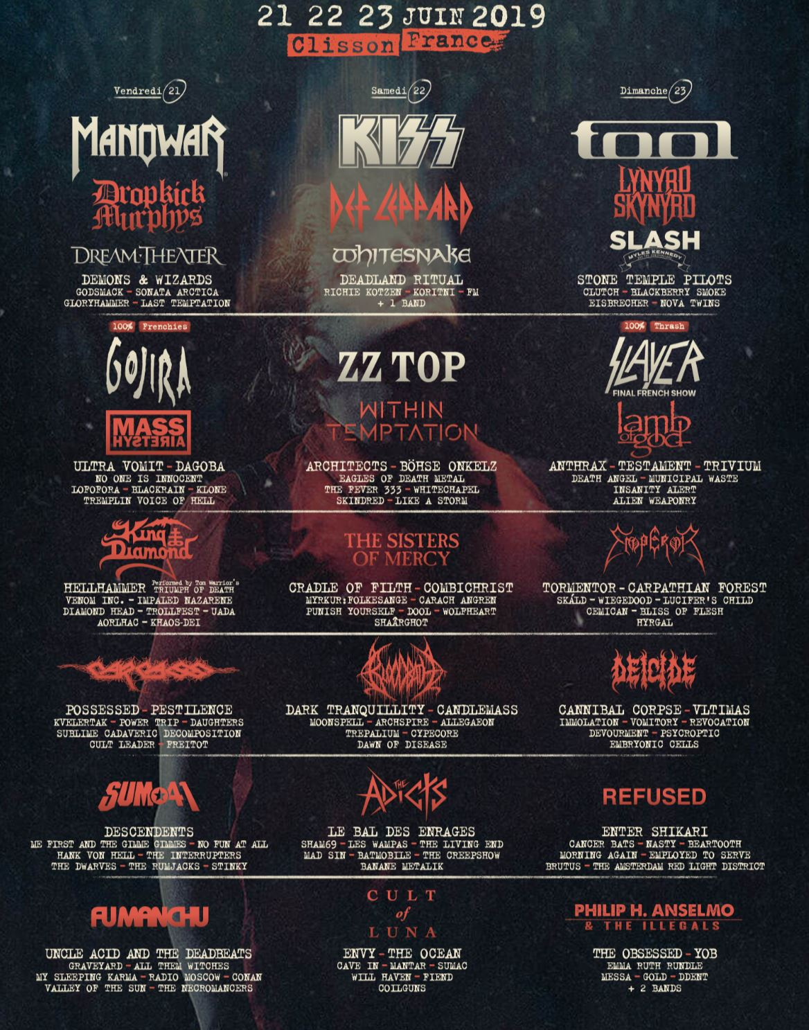 Hellfest Open Air 2019 affiche