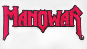 Manowar logo patch met trademark symbool
