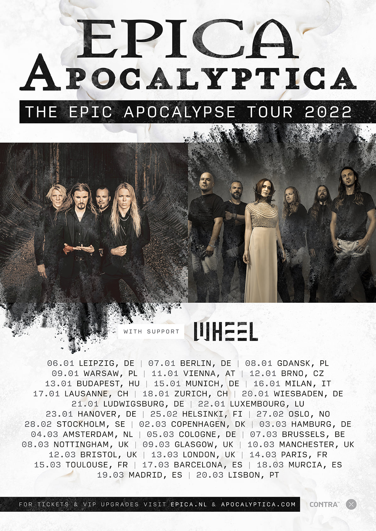 Epica & Apocalyptica verplaatsen Europese tour naar 2022