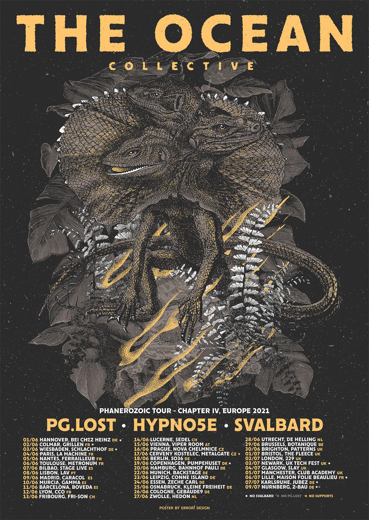 Phanerozoic Tour met The Ocean, PG.LOST, ]Hypno5e[ en Svalbard verplaatst naar juni.
