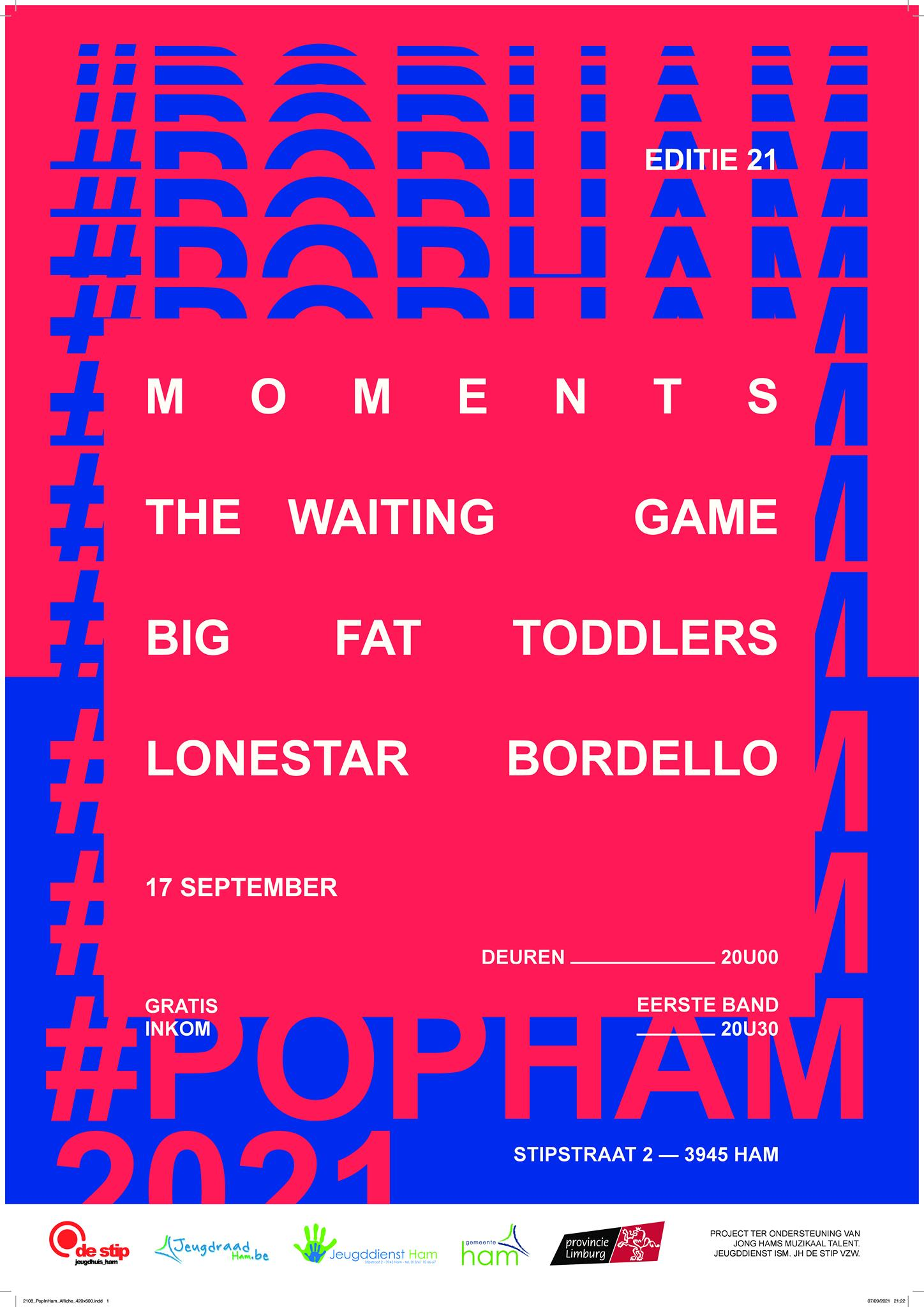 21e Pop In/uit/van Ham – De Stip, Ham – 17/09/2021